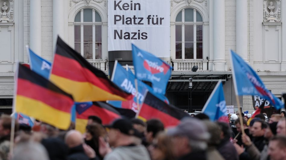 AfD-Anhänger in Hamburg