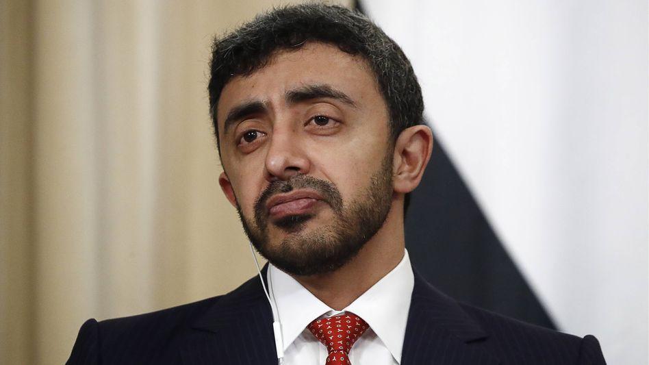 Der emiratische Außenminister Abdullah bin Zayad Al Nahyan führte ein direktes Telefonat mit seinem israelischen Amtskollegen Gabi Aschkenasi