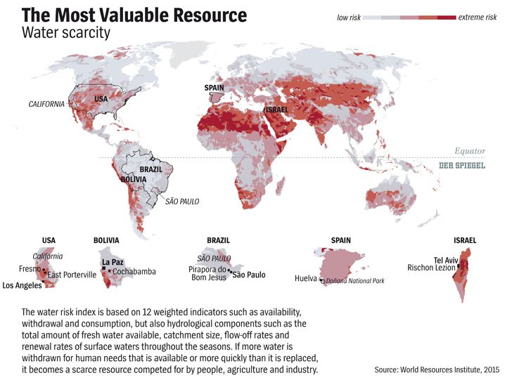 Graphic: Where water is scarce.