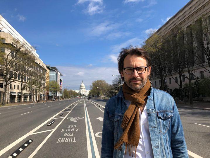 SPIEGEL-Korrespondent René Pfister in Washington, D.C., noch ohne Maske