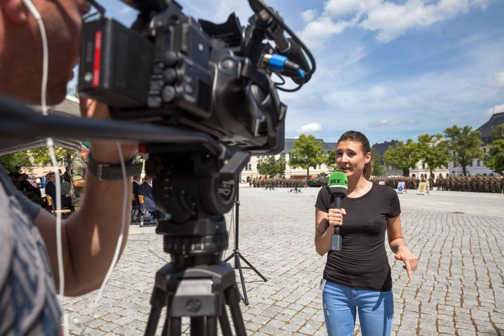 An RT reporter in the town of Marienberg, Germany, in 2017