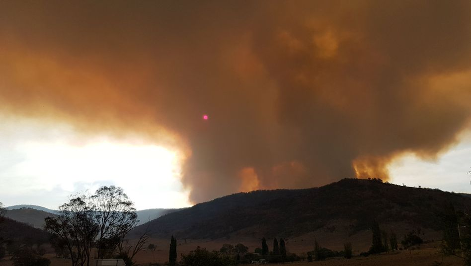 Rauch über dem Namadgi-Nationalpark südlich von Canberra: Die Behörden haben wegen der Buschbrände den Notstand ausgerufen