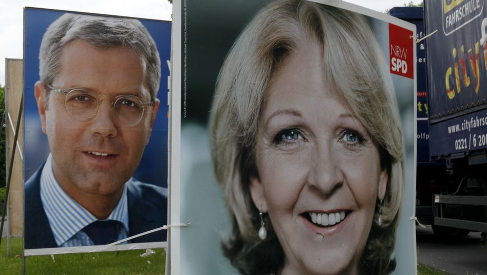 Norbert Röttgen, the CDU candidate for governor in North Rhine-Westphalia, faces an uphill battle against opponent Hannelore Kraft of the SPD.