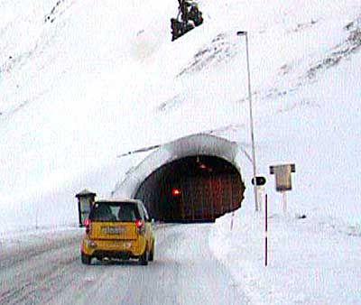 Rückfahrt durch den Nordkaptunnel