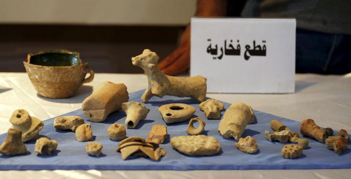 Gerettete Antiken im irakischen Nationalmuseum in Bagdad (Juli 2015): Von US-Soldaten aus Besitz des IS befreit