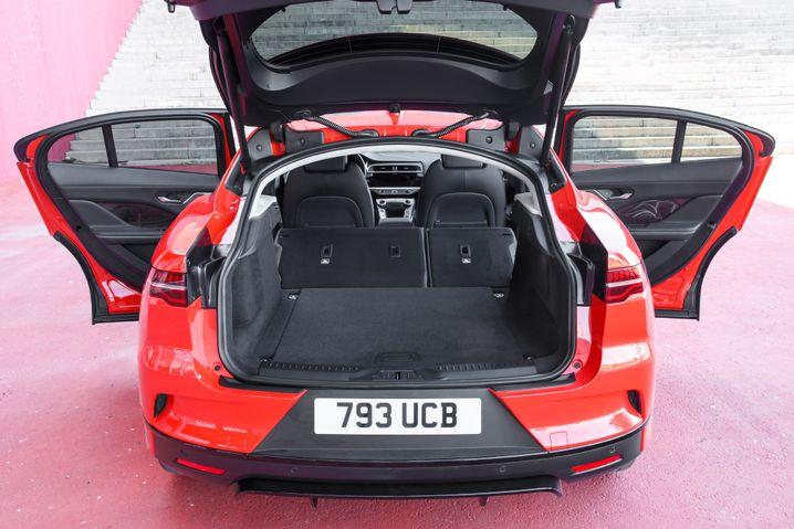 Kofferraum des Jaguar I-Pace