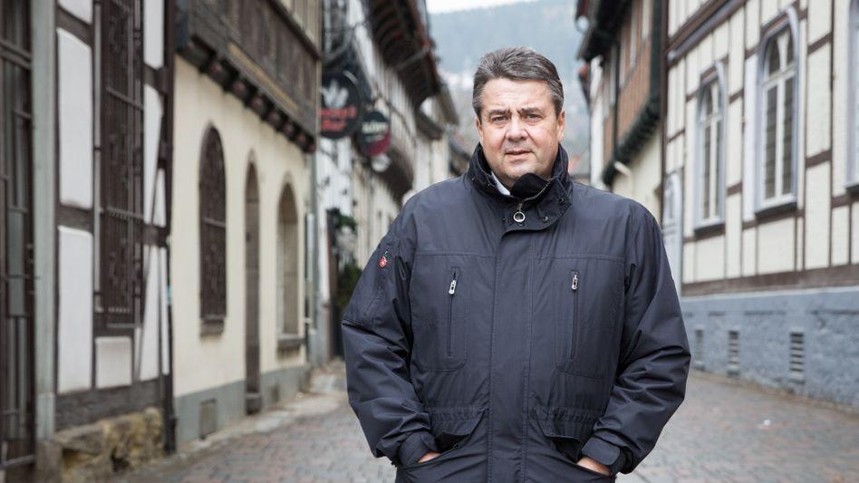 Sigmar Gabriel in seiner Heimatstadt Goslar