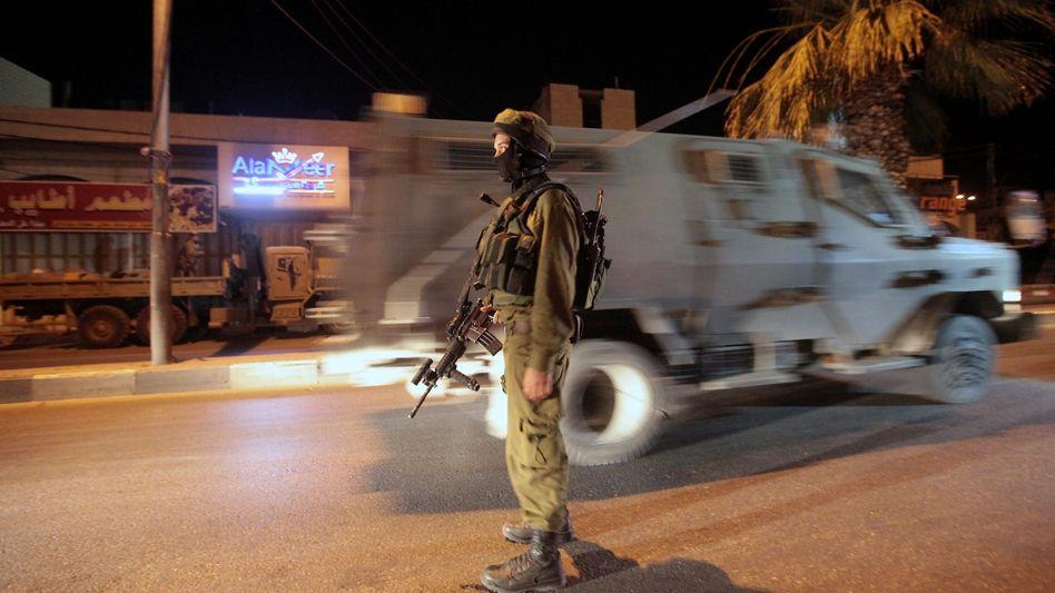 Israelischer Soldat nahe Hebron (Archivbild): Tödlicher Zwischenfall