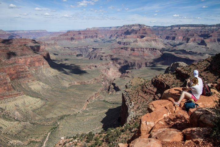 Beliebtes Ausflugsziel: Wanderer im Grand-Canyon-Nationalpark (Archivbild vom Mai 2019)