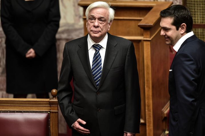 """Greek President Pavlopoulos and Greek Prime Minister Alexis Tsipras: """"My view is that, increasingly, it is the technocrats who make the decisions and not the politicians."""""""