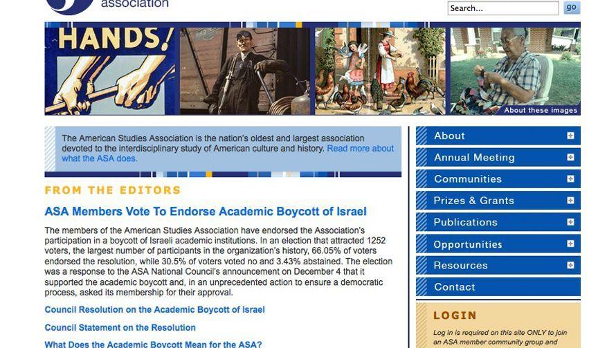 """Website der ASA: """"Boykott gegen Israel"""""""