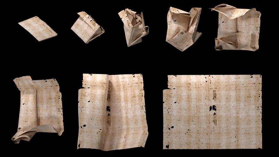 Virtuell aufgefalteter Brief aus der Brienne-Collection