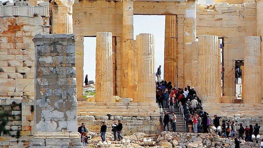 Proteste auf der Akropolis