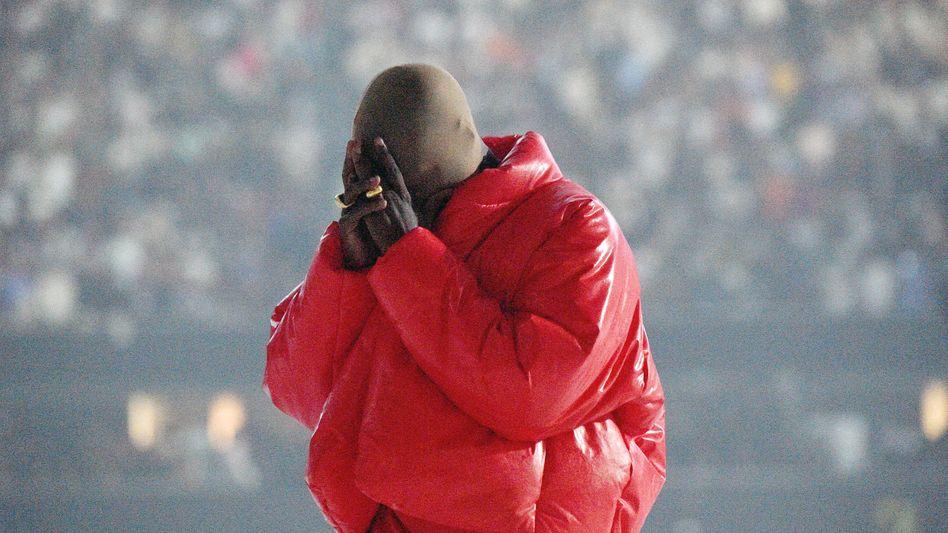 Kanye West bei der Listening-Session zum Album »Donda«: Mit Strumpfmaske im Mercedes-Benz Stadium