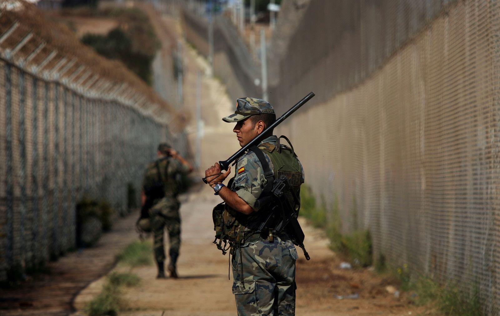 Marokko/ Spanien/ Grenze