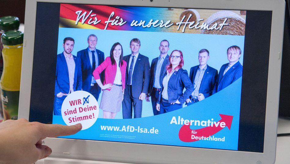 Wahlplakat der AfD in Sachsen-Anhalt