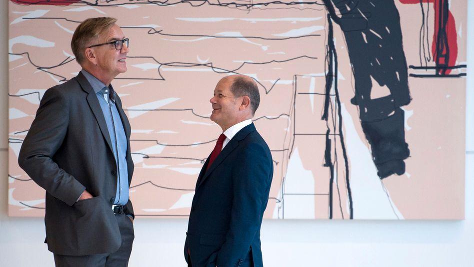 Spitzenkandidaten Bartsch (l.) neben Scholz: »Ich kann den Blödsinn nicht mehr hören«