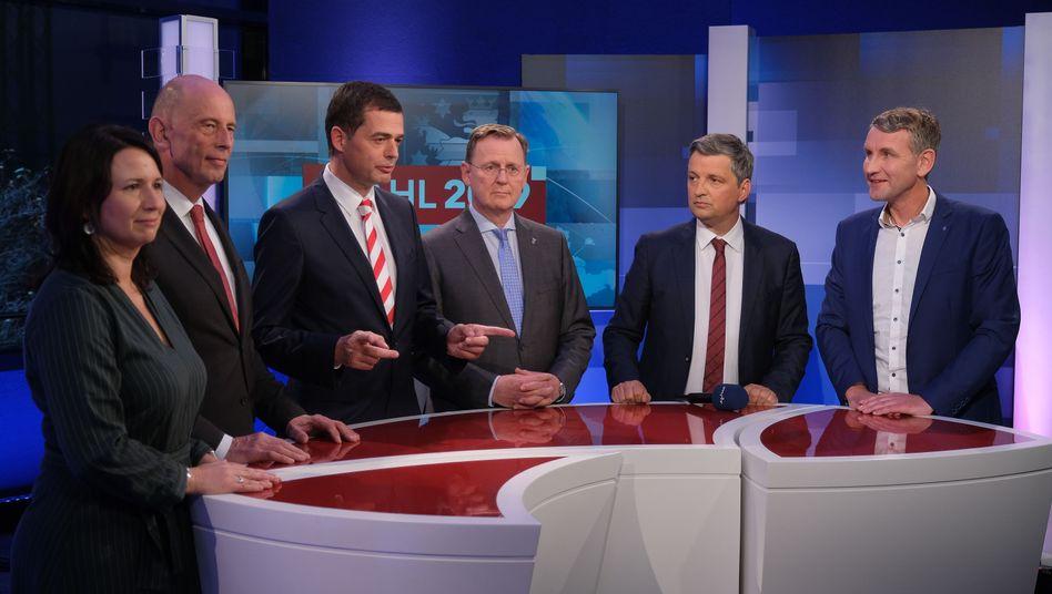 Thüringen hat gewählt - und nun? Die Spitzenkandidaten am Wahlabend