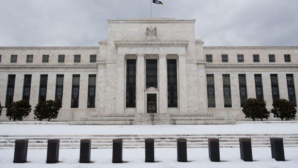 Zentrale der Fed: Die US-Zentralbank kauft in großem Stil Staatsanleihen auf