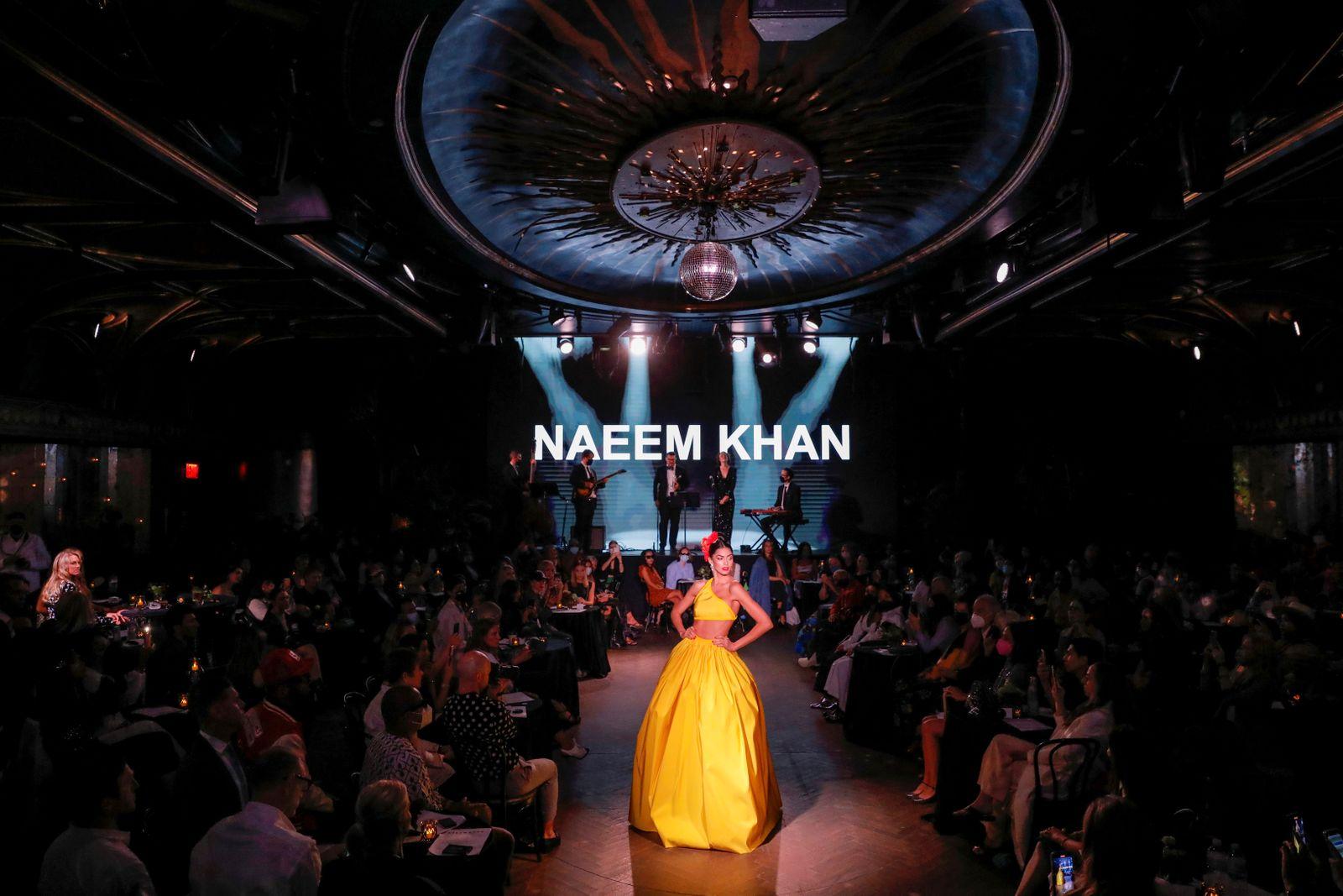 Naeem Khan Spring/Summer 2022 collection during New York Fashion Week in Manhattan, New York City