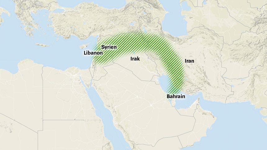 Strategisches Ziel Teherans: der schiitische Halbmond vom Libanon bis Iran