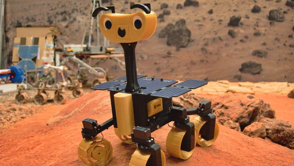 Der Mini-Mars-Roboter ist zwar nicht gerade preiswert, dafür kann er ohne Probleme Hindernisse überwinden