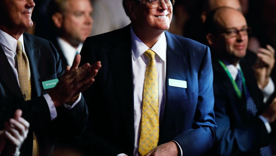 US-Milliardär David Koch (Mitte)