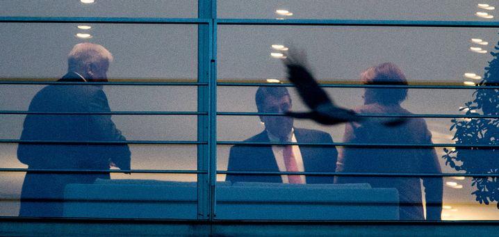 Seehofer, Gabriel, Merkel im Kanzleramt: Einigung in Berlin