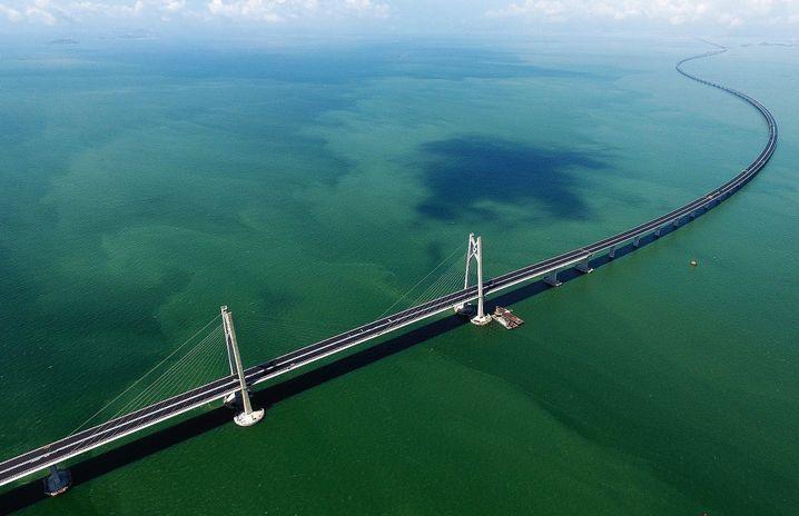The Hong Kong - Zhuhai - Macau Bridge is 55 kilometers long.