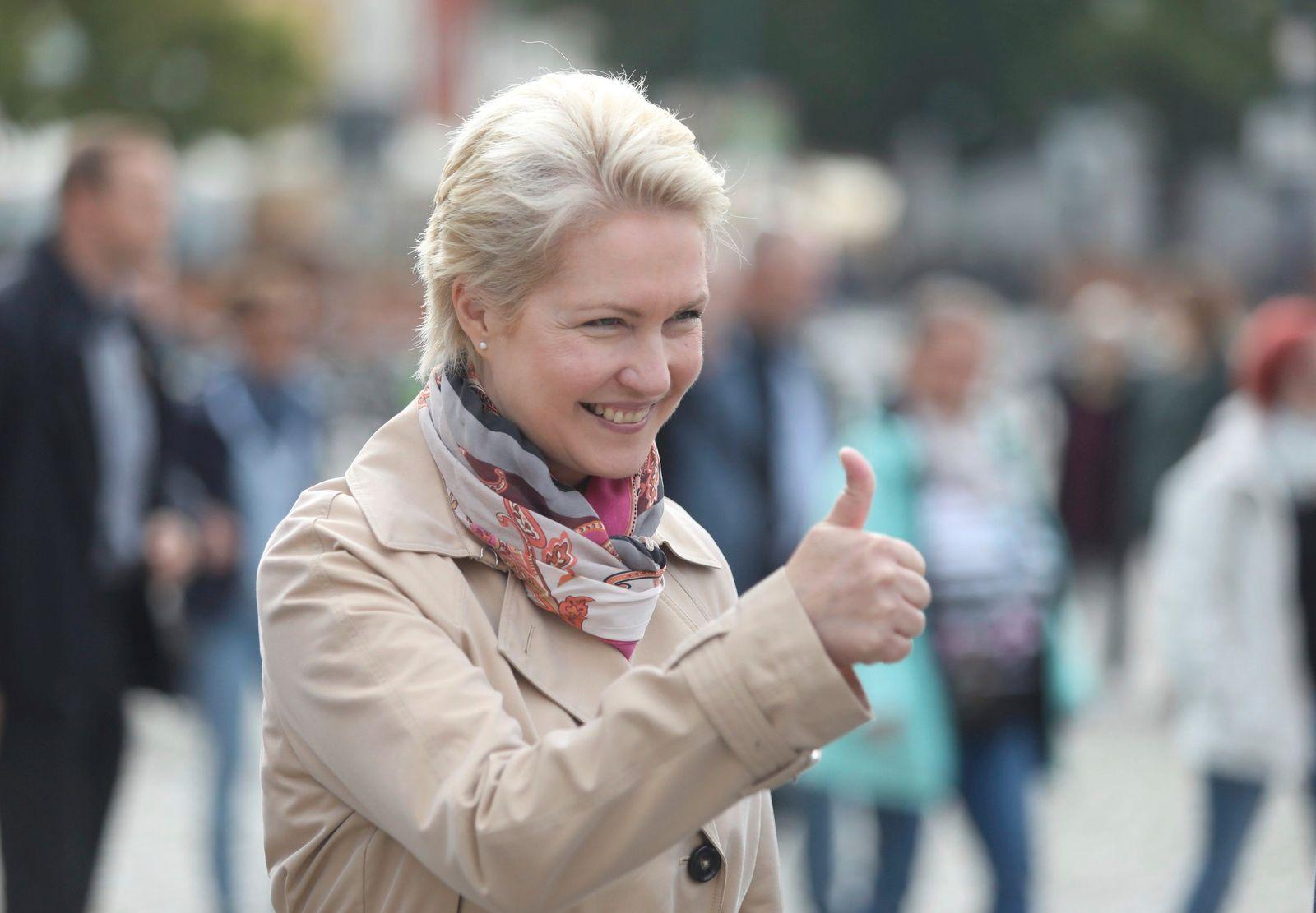 Wahlkampfabschluss der SPD MV - Schwesig in Wismar