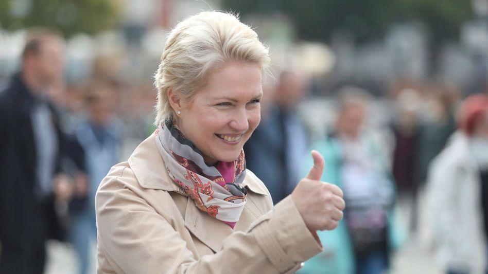 Manuela Schwesig (SPD) dürfte mit den ersten Hochrechnungen zufrieden sein