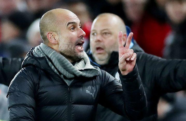 Zweimal fühlte sich Guardiola von den Schiedsrichtern betrogen