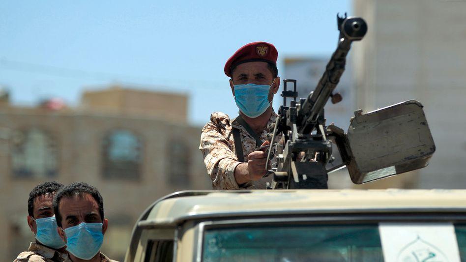 Jemenitische Soldaten in der Hauptstadt Sanaa