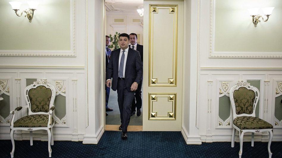 Regierungschef Hrojsman in seinem Kiewer Amtssitz: »Wir müssen viele unpopuläre Entscheidungen treffen«
