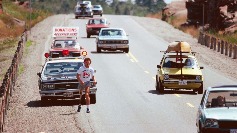 Prothesenläufer Terry Fox: Auf einem Bein durch Kanada