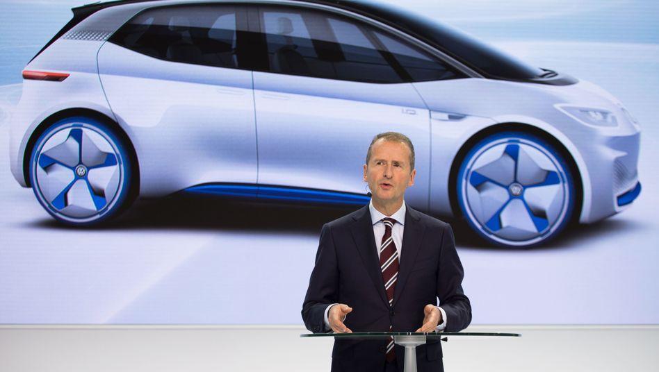 Volkswagen-Chef Herbert Diess, Elektroauto-Studie I.D.