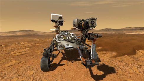 Sieht rot: So könnte es aussehen, wenn »Perseverance« auf dem Mars unterwegs ist