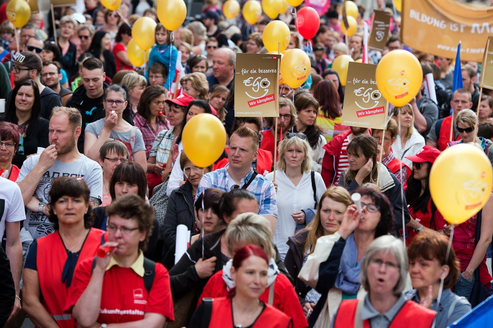 Kita-Streik in Sachsen
