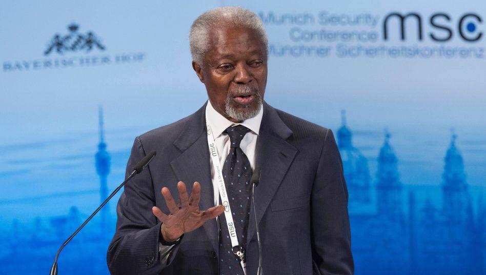 """Kofi Annan: """"Wir wissen, dass sie nicht funktionieren wird"""""""