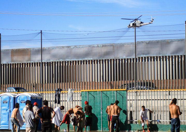 Notunterkunft für Migranten in Tijuana