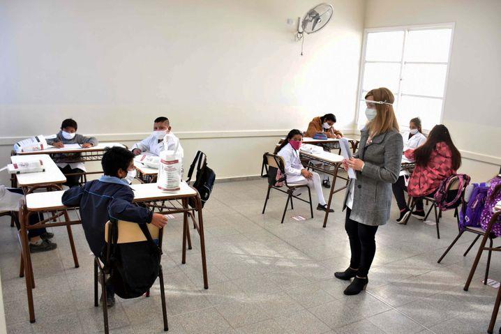 San Juan war die erste Provinz, die den Präsenzunterricht wieder zugelassen hat