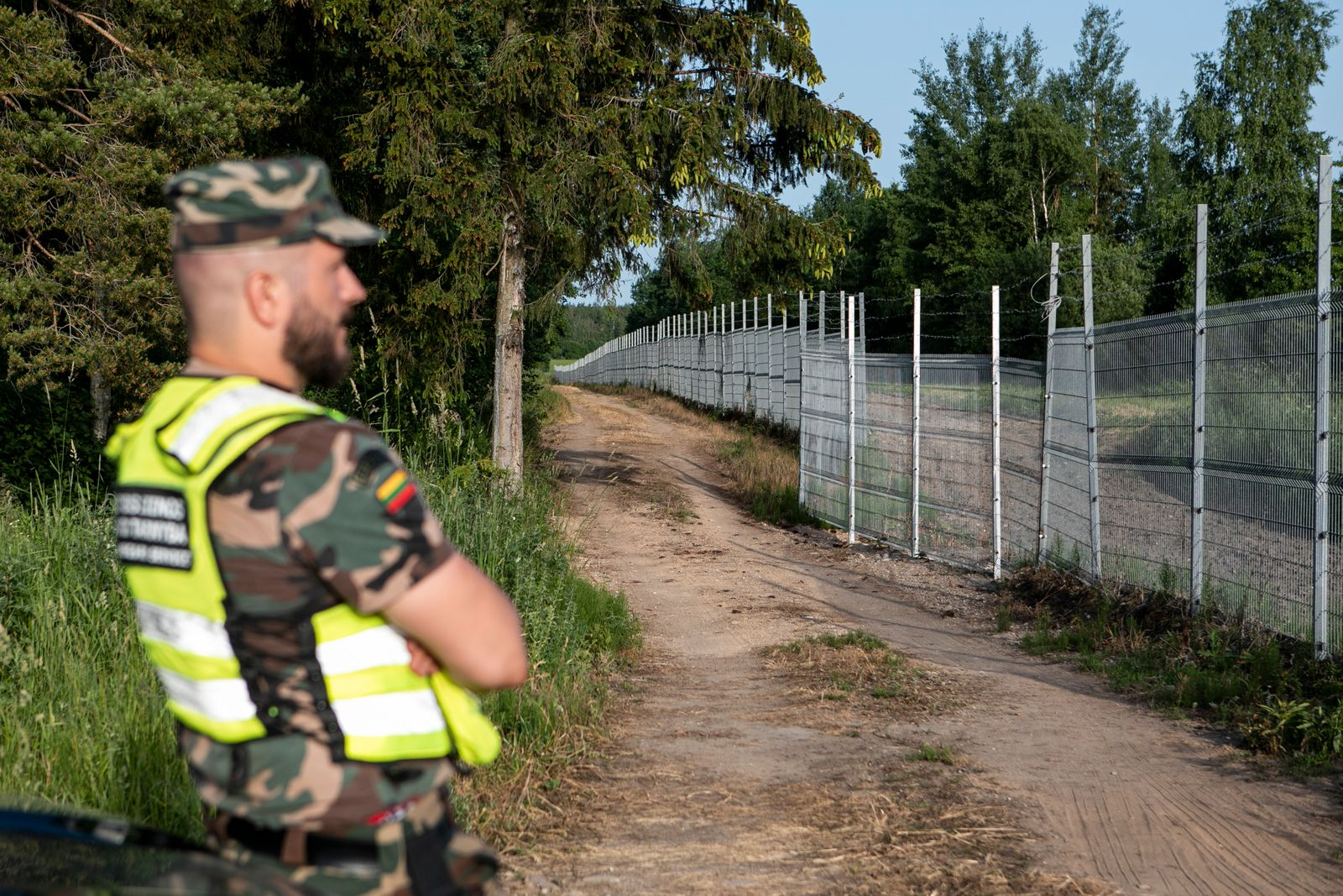 Lithuanian Border Patrols As Illegal Migrant Crossings From Belarus Multiply