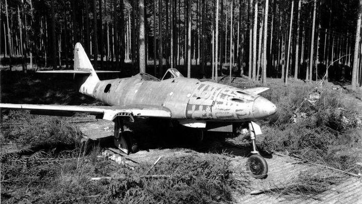 Blick hinter die Kulissen: Flugzeuge unter Bäumen