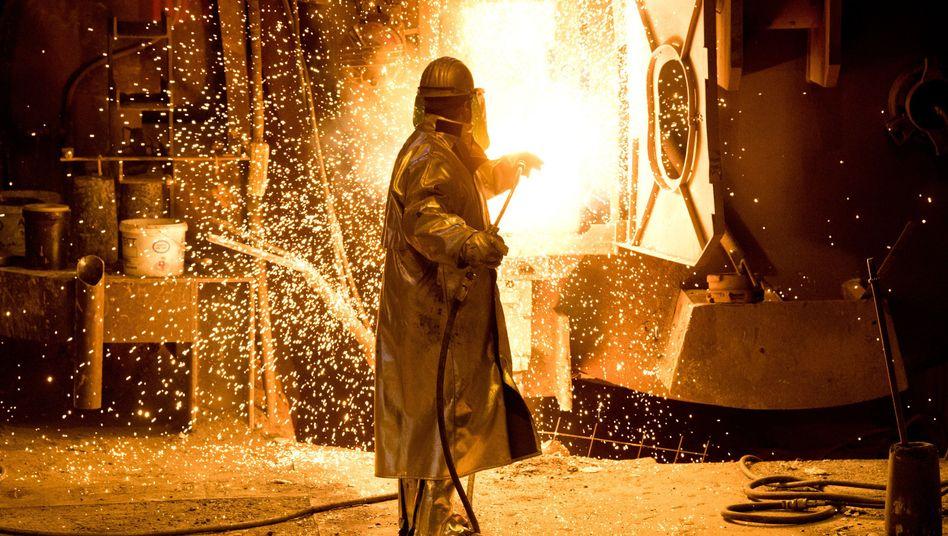 Stahlarbeiter bei Salzgitter