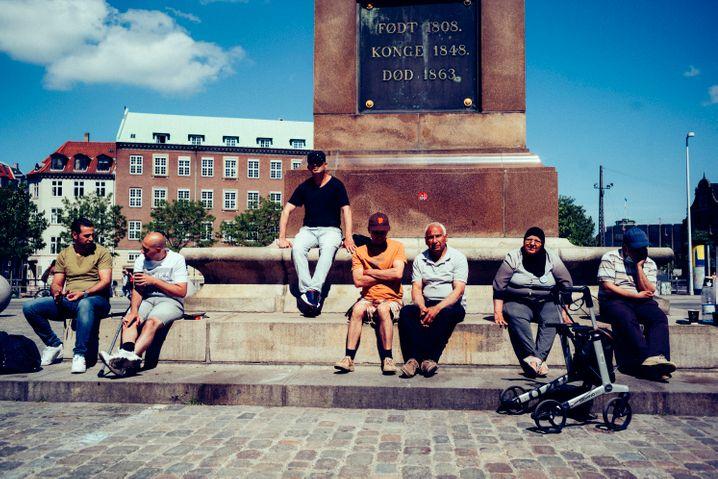 Protest vor dem dänischen Parlament: Seit 18. Mai sind sie hier, Politiker kamen bislang selten vorbei