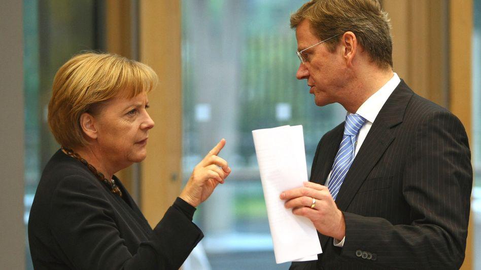 Angela Merkel und Guido Westerwelle: Verhandlungen im Eiltempo