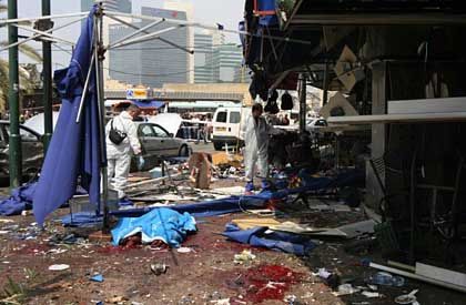 "A suicide attack at Tel Aviv's bus station in April: ""Our security forces have their hands tied."""