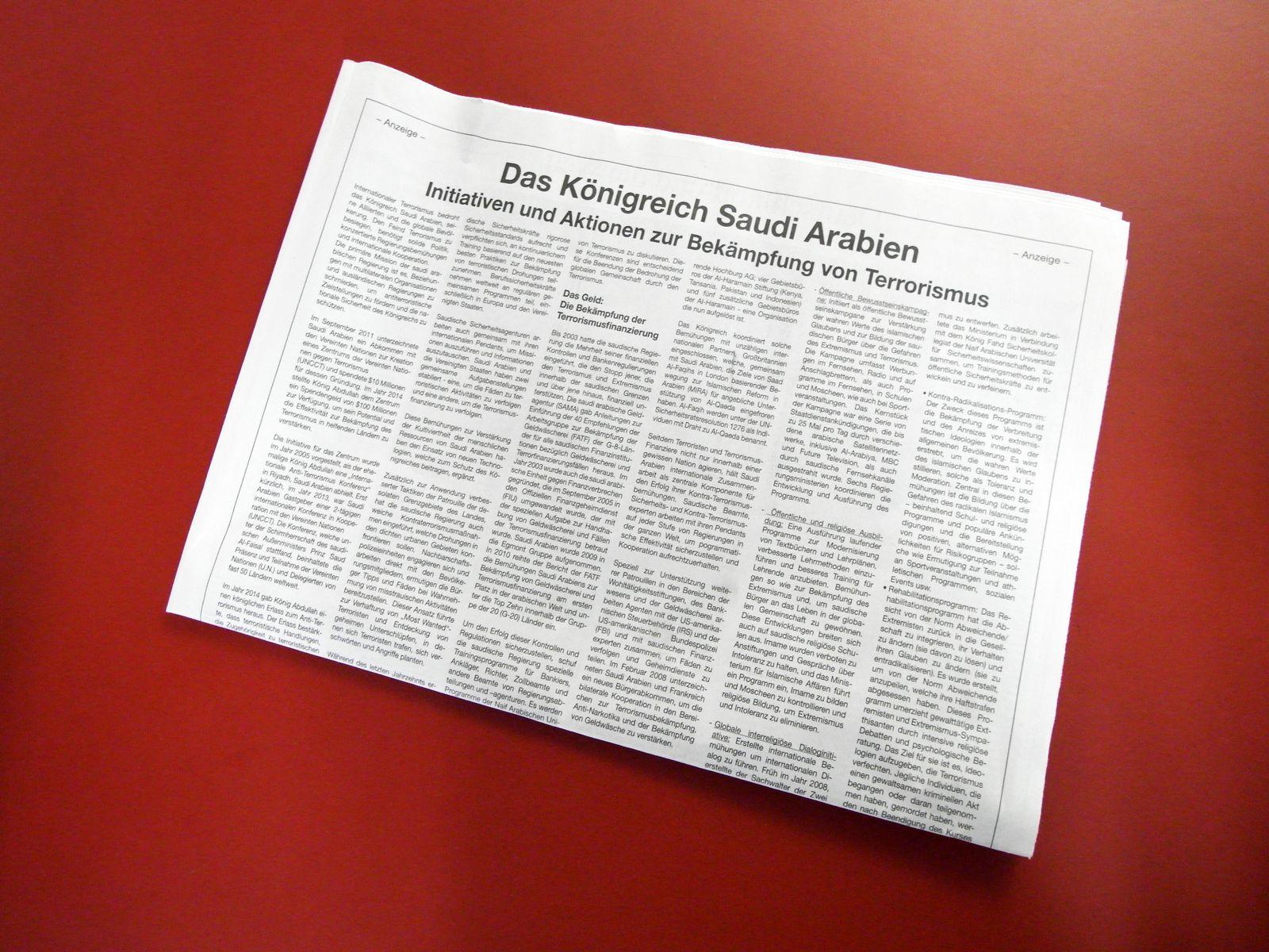 FAZ 11.12.2015 / Anzeige Saudi Arabien