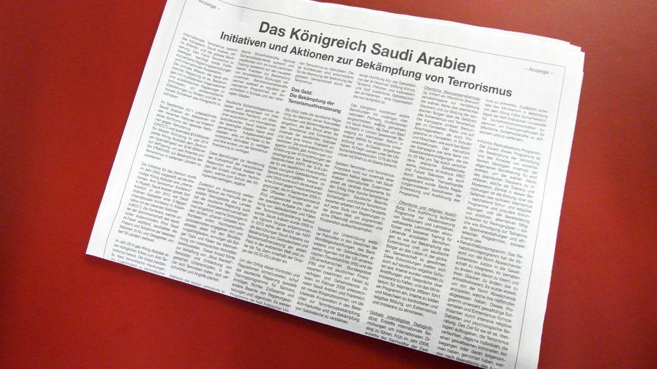 Anzeige in der FAZ: Bei der Übersetzung geknausert