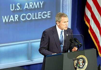 George Bush: Kein Kurswechsel, kein Zeitplan